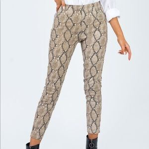 Princess Polly snakeskin pants